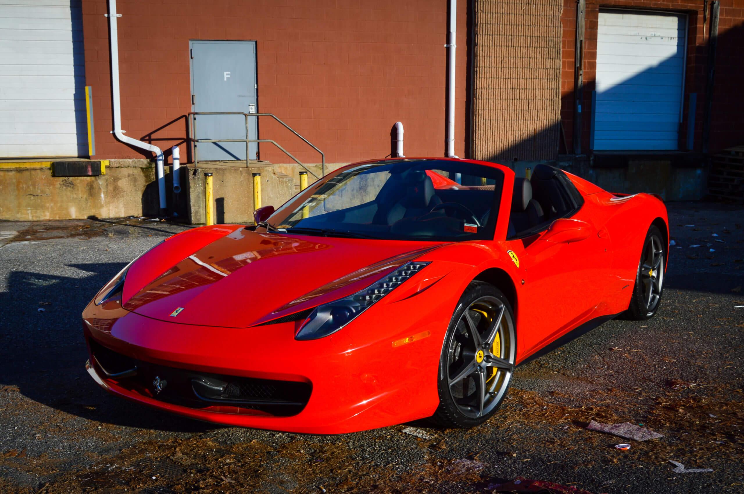 Ferrari 458 Spider | Hourly, Daily & Monthly Rentals ...  Ferrari 458 Spider Red